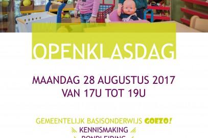 Openklasdag 28/8/2017