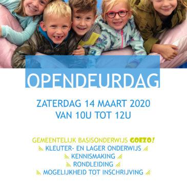 OPENDEURDAG 14/3/2020